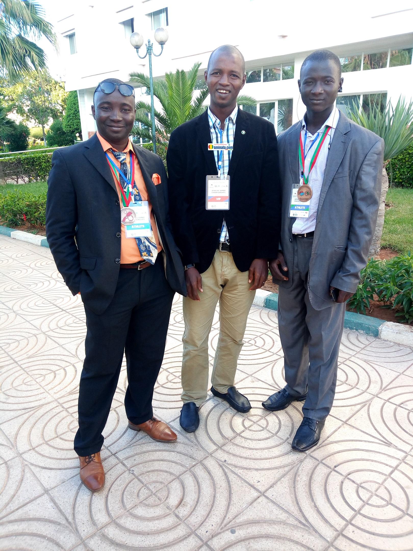 Bah Amadou Sadigou président de la fédération guinéenne de Sambo et Boxe chinoise(FGSBC) et des membres de la fédération