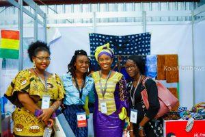 Mariama Kaba, lauréate guinéenne avec des lauréates du UBA Marketplace