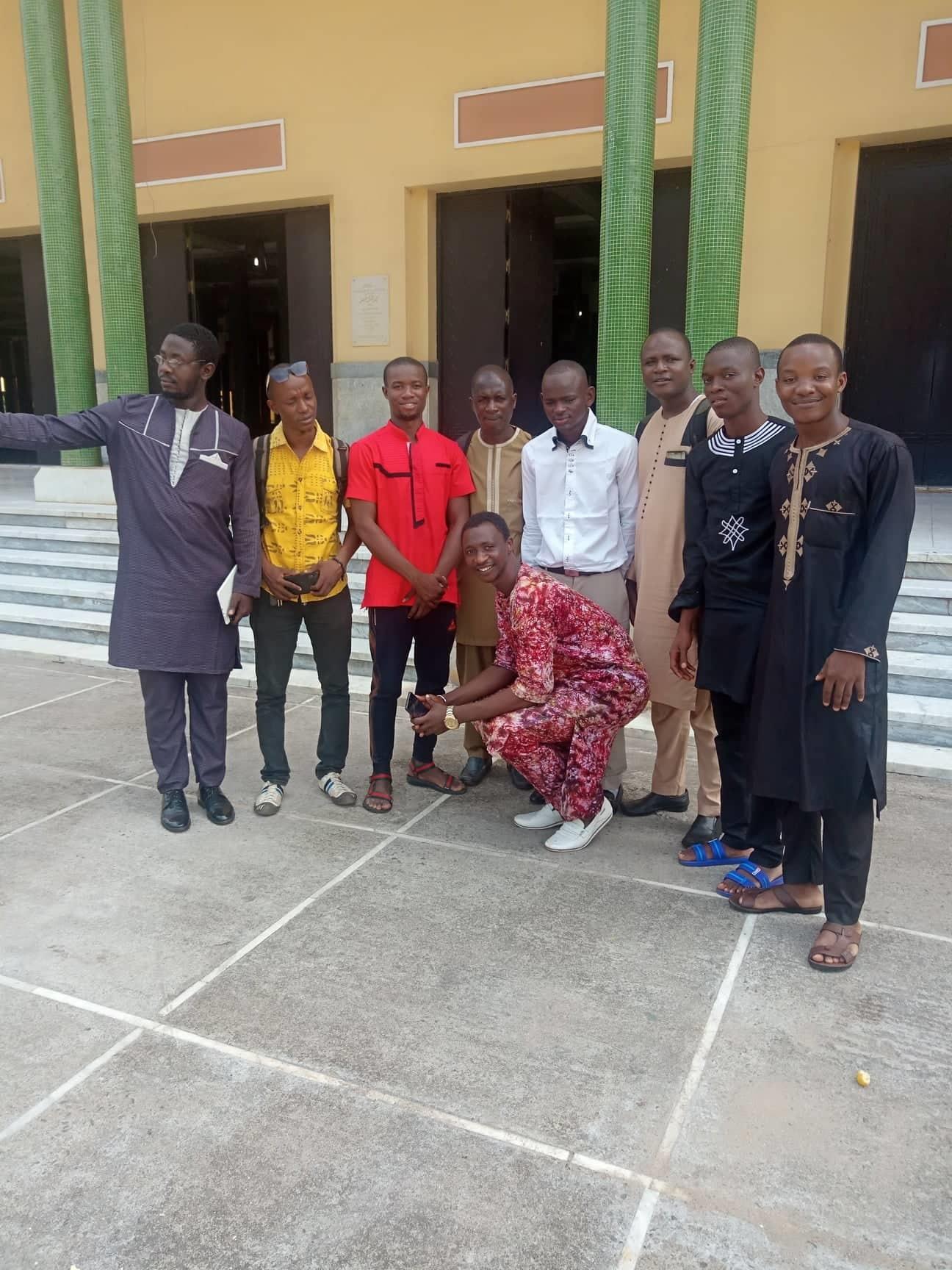 Les membres du Collectif de Jeunes Démocrates de Guinée (CJDG)