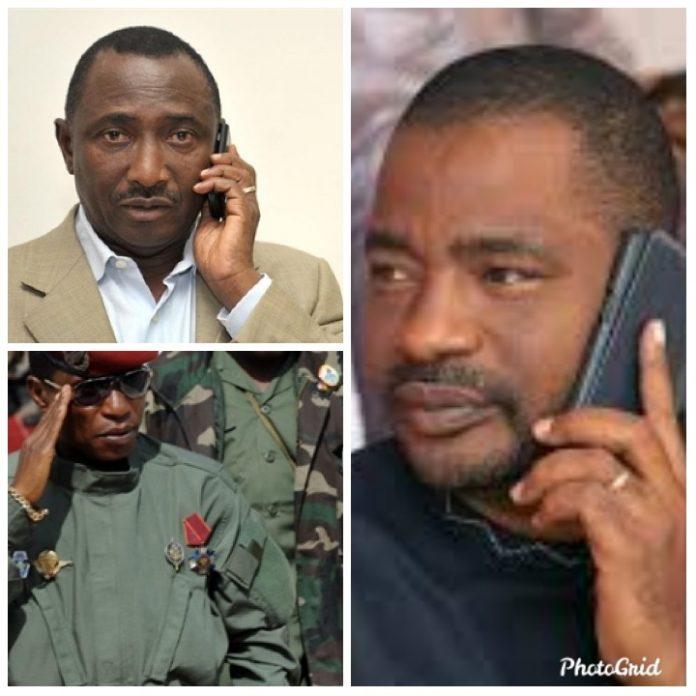 Photo montage de Tibou Kamara, Sidya Touré et Dadis Camara
