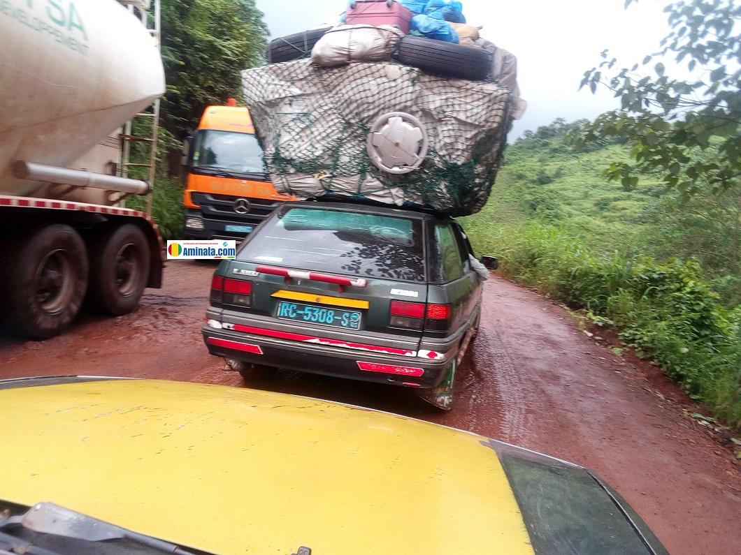 Conakry-Kindia, la route complètement dégradée