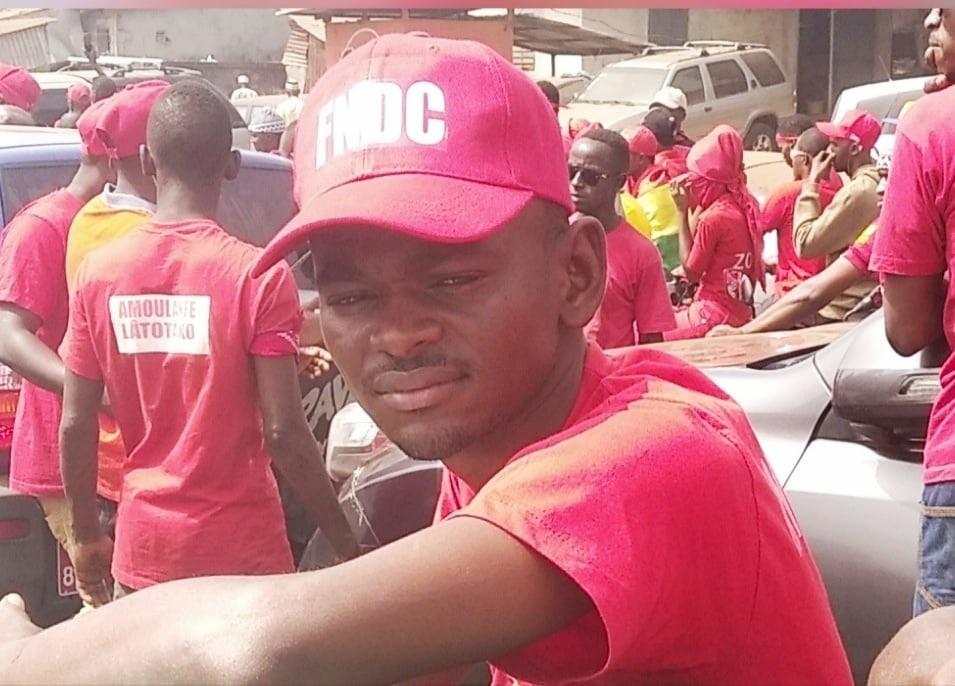 Ibrahima Kalil Diallo, Président du Collectif des jeunes démocrates de Guinée (CJDG) et membre du Front national pour la défense de la constitution (FNDC)