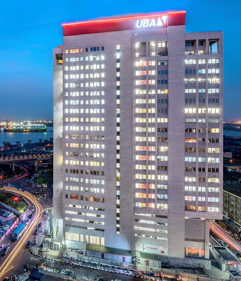 Le quartier général de United Bank for Africa (UBA)