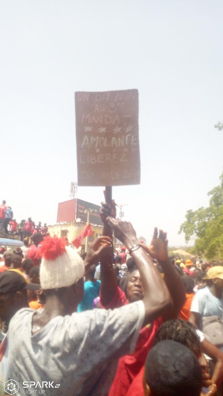 Manifestation à Labé du Front national pour la défense de la Guinée (FNDC)