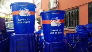 Des kits sanitaires offerts par la Fondation Orange Guinée