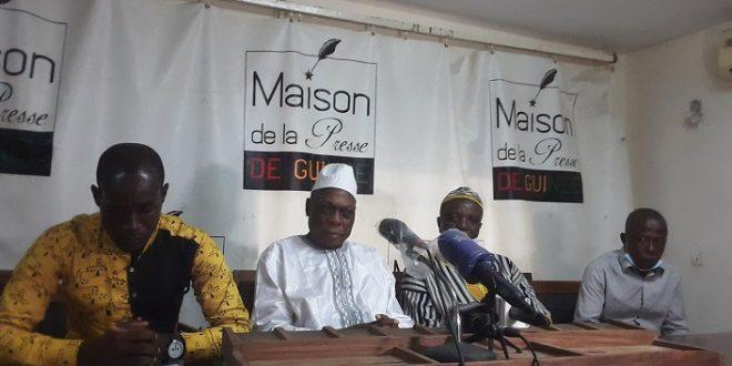 Moussa Solano lors d'une conférence de presse