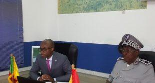 Le général Toumany Sangaré et Dr. Kunio MIKURYA et Mr.Bernard ZBINDEN