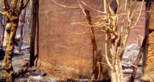 maison et une grande quantité de vivres partis en fumée dans un incendie