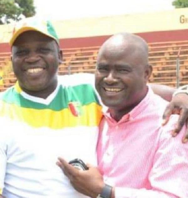 L'homme d'affaires Kerfalla Person Camara (KPC) avec son directeur de campagne Lucien Beindou Guilao