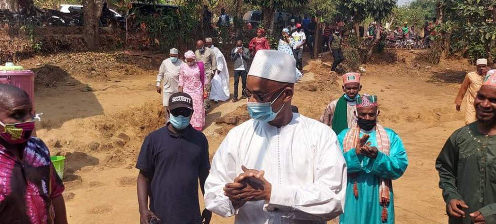 Comme Labé et Pita, le président Cellou Dalein Diallo  a effectué une tournée dans plusieurs quartiers de Dalaba