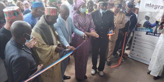 cérémonie d'inauguration du parking multiservice communale du centre ville de labé
