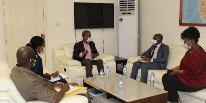 le Ministre de la Coopération et de l'Intégration Africaine a reçu la visite du Représentant de l'ONUDI en Guinée.